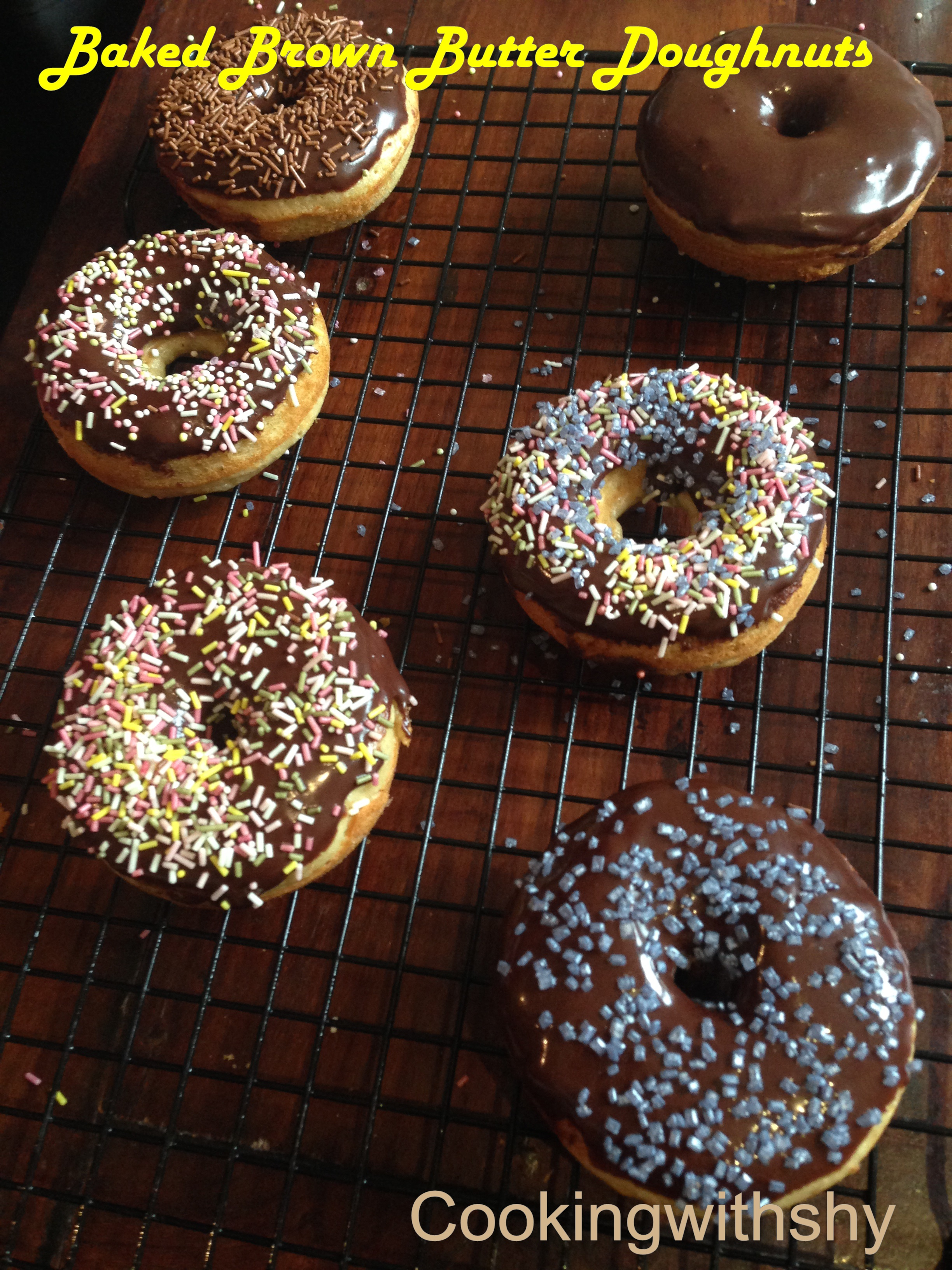 Baked Doughnuts with Chocolate Glaze