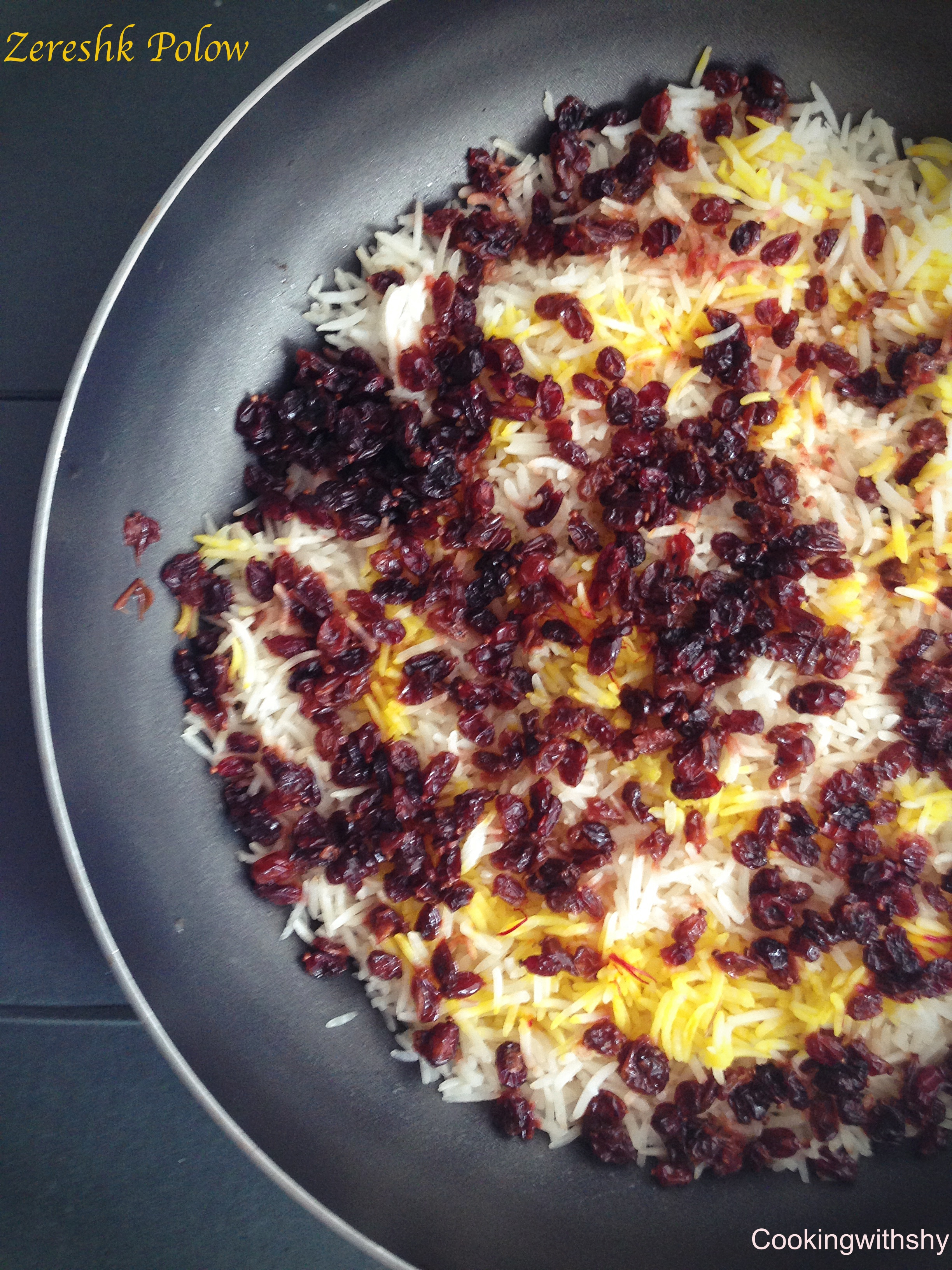 Saffron infused rice speckled with tangy barberries zereshk poloa watermark zereshk forumfinder Images