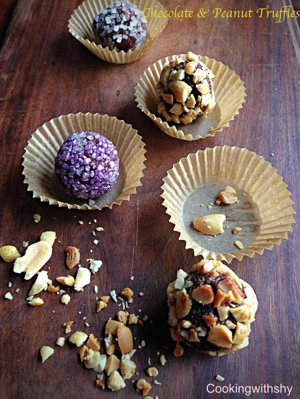 Chocolate & Peanut Truffles